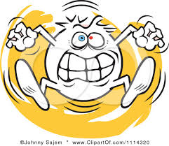 Going Crazy 1114320 Clipart Angry Moodie Character Going Crazy Royalty Free