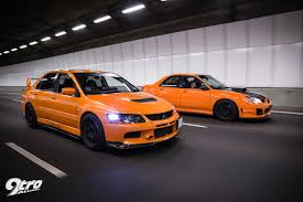 orange subaru wrx subaru wrx sti u0026 mitsubishi evolution 9 the orange revolution 9tro