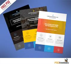 flat clean corporate business flyer template free psd download