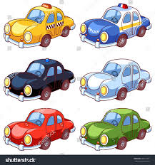 set cartoon cars on white background stock vector 268113491