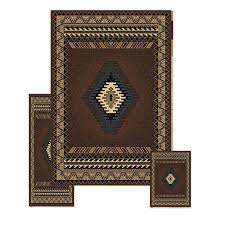 southwest area rugs amazon com furnish my place 3 piece southwestern contemporary