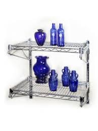 Wall Mount Wire Shelving by Wall Mounted Wire Shelves The Shelving Store