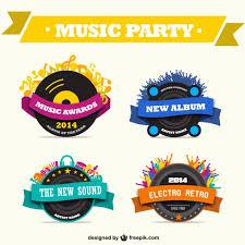imagenes logos musicales conjunto de logos de música descargar vectores gratis