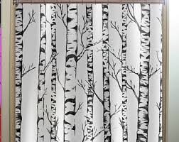 birch tree curtains etsy