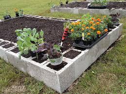 Raised Garden Bed On Concrete Patio Concrete Block Raised Beds