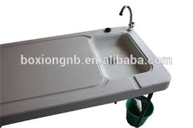 Portable Camping Sink Kitchen by Plastic Folding Portable Fish Table Fillet Table With Sink And