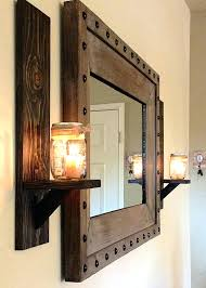 home interiors sconces sconce vintage home interiors wood wooden wall hanging mirror