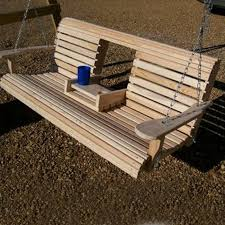Patio Swing Folds Into Bed Build A Wood Porch Swing With Cup Holders Diy Projects For