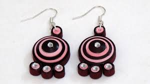 paper ear rings quilling paper earring light with maroon