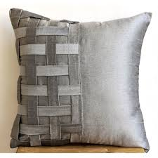 basketweave woven fabric pillow google search techniques decorative pillow sham covers couch pillow sofa 24 inch silk pillow cover with basket weave grey silver bricks home living decor housewares