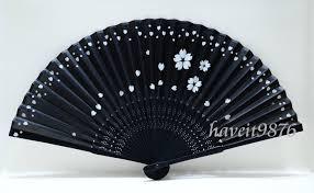 japanese folding fan japanese fan black based with falling
