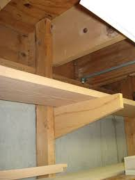 Hanging Shelves From Ceiling by Lumber Rack Made From 3 4