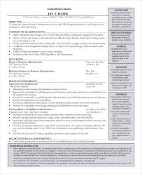 Military Resume Sample by Military Resume 8 Free Word Pdf Documents Download Free