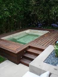 pool wonderful decorating ideas using rectangular brown wooden