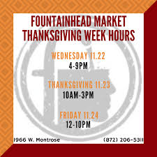 thanksgiving week hours