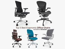 5 best ergonomic office chairs 3d cgtrader