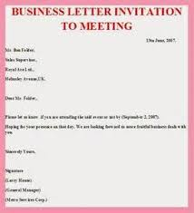 how to write a meeting invite letter cover letter templates