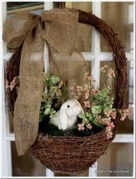Easter Door Decorations Pinterest by So Cute Primitive Country Easter Bunny Door Wreath Rustic Easter