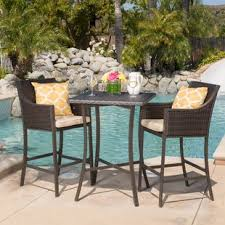Patio Bar Height Table And Chairs Bar Height Patio Sets Wayfair