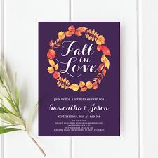 fall in love couple u0027s shower invitation fall couples shower fall