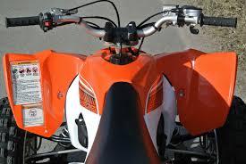 atvs snowmobiles 2014 yamaha yfz450r blaze orange sport atv