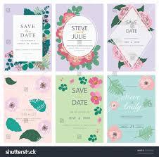 wedding invitation card template set stock vector 724182742