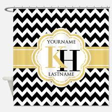 Yellow White Chevron Curtains Chevron Black And Yellow Shower Curtains Chevron Black And