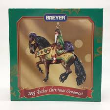 breyer bay horse 2003 father christmas plastic ornament 700113