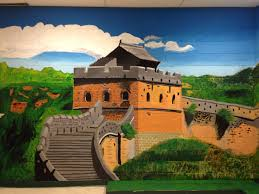great wall of china mural the contributing artists are don mai van tha len sang htet oo wai kyaw zaw hsa wah and kyaw nar