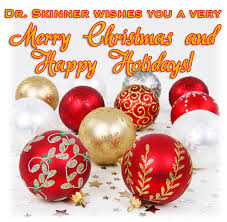 merry and happy holidays dr skinner