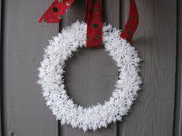 snowflake wreath craft tutorial youtube