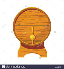 cartoon beer wooden beer keg icon cartoon style stock vector art