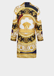 versace silk i baroque bathrobe for women us online store