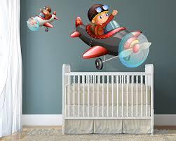 chambre garcon avion stickers avion pour chambre d enfants vente de sticker avions