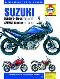 suzuki dl650 v strom sfv650 gladius 2004 2013 haynes motorcycle