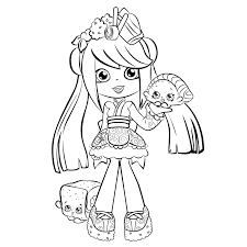 shopkins shoppies colouring pages girls coloring pages