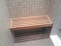 good custom teak shower bench rectangle teak shower bench on gray