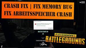 pubg keeps crashing playerunknown s battlegrounds crash fix fix memory bug