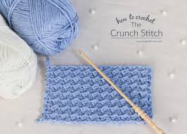 how to crochet the crunch stitch easy tutorial by stitch
