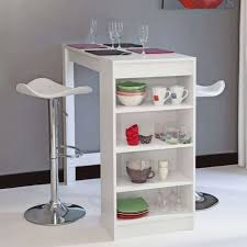 table bar cuisine pas cher chili table bar de 2 à 4 personnes style contemporain blanc mat