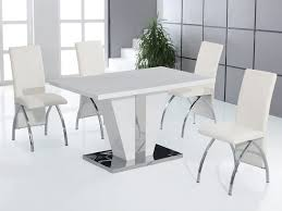 Dining Room Sets White White Gloss Dining Table And Chairs With Concept Picture 21668 Yoibb