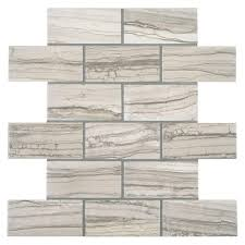 Tiles At Home Depot On Sale by Marazzi Vitaelegante Grigio 12 In X 12 In X 6 Mm Ceramic Brick