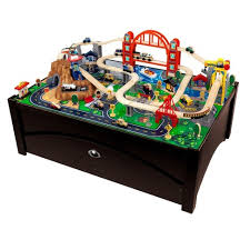 melissa and doug train table and set kidkraft metropolis train table and set target