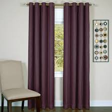 Purple Eclipse Curtains by Taylor Lined Grommet Curtain Panel Walmart Com