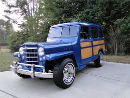 blue station wagon 1951 willys station wagon