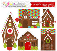 instant download gingerbread house clipart or gingerbread man
