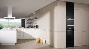 contemporary kitchen lacquered wood wood veneer island