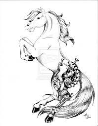 ohio state tattoos designs horse tattoo ideas mechanized horse tattoo by briescha on