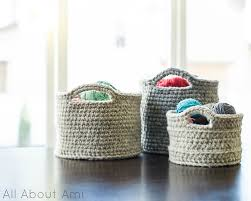 baskets for home decor 21 awesome crocheted diys for cozy home décor shelterness