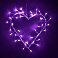 heart shaped christmas lights silver metal purple led heart garland wreath fairy string lights
